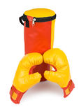 Childrens boxing kit Stock Images