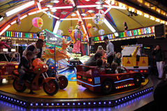 Childrens carousel at fairground Royalty Free Stock Image