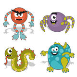 Childrens cartoon monster Stock Image