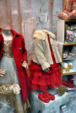 Childrens clothing shop window Royalty Free Stock Photography