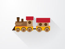 Childrens color toy train Stock Image