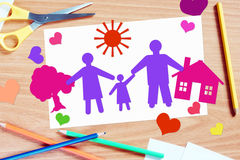 Childrens congratulation with Family day Royalty Free Stock Image