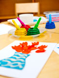 Childrens creativity concept Royalty Free Stock Photography