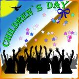 Childrens day. Children`s day vector illustration, happy kids Stock Photos