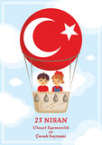Childrens Day of Turkey Royalty Free Stock Photos