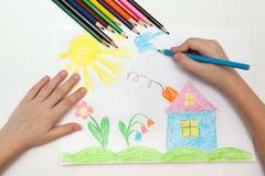 Childrens drawing Royalty Free Stock Images