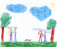 Childrens drawing Stock Image
