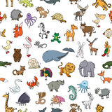Childrens drawings doodle animals seamless pattern Royalty Free Stock Photography
