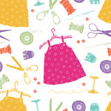 Childrens dresses background Stock Photos