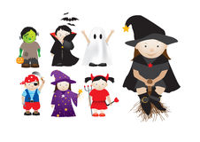 Childrens dressing up in fancy dress Royalty Free Stock Photos