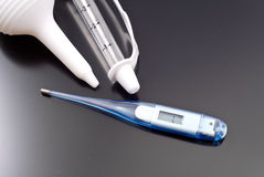 Childrens Electronic Thermometer Stock Photography