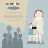 Childrens fears. Vector illustration. Stock Images