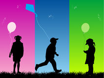 Childrens Fun. Illustration  nature photo Royalty Free Stock Images