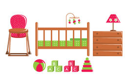 Childrens furniture and toys Royalty Free Stock Images