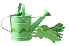 Childrens gardening tools Royalty Free Stock Images