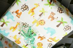 Childrens Gift Wapped Present Stock Photography