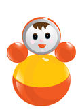Childrens Girl Figure Toy Stock Photo