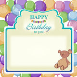 Childrens greeting background with the birthday boy. Stock Photography