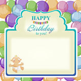 Childrens greeting background for the boy. Royalty Free Stock Photography