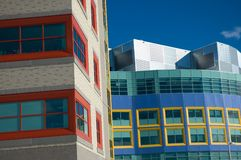 Childrens Hospital. Modern hospital for the treatment of sick children in Calgary Alberta stock photo