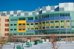 Childrens Hospital. Modern hospital for the treatment of sick children in Calgary Alberta stock photos