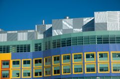 Childrens Hospital. Modern hospital for the treatment of sick children in Calgary Alberta stock image