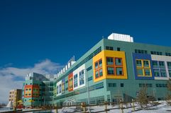 Childrens Hospital. Modern hospital for the treatment of sick children in Calgary Alberta royalty free stock photo