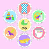 Childrens icons Royalty Free Stock Photography
