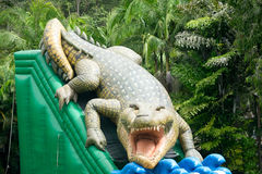 Childrens Inflatable Crocodile Royalty Free Stock Photos