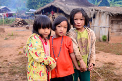 Childrens of Karen villager in poverty village. Royalty Free Stock Image