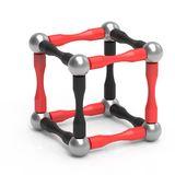 Childrens magnetic toy in the form of a cube. 3D rendering. vector illustration
