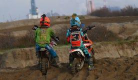 Childrens of motocross Stock Image