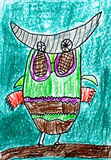 Childrens paintings Royalty Free Stock Image