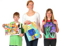 Childrens paintings Stock Photo