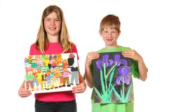 Childrens paintings Royalty Free Stock Photo