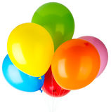 Childrens party balloons Stock Photo