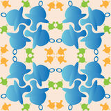 Childrens pattern with dummy, background. Royalty Free Stock Images