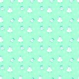 Childrens pattern from hand-drawing helicopter Stock Images