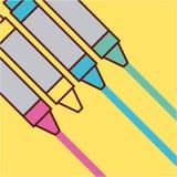 Childrens pencils color. Icon vector illustration design graphic Stock Photos