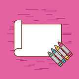 Childrens pencils color. Icon vector illustration design graphic Royalty Free Stock Image