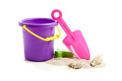 Childrens Plastic Beach Toys Royalty Free Stock Photo