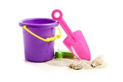 Childrens Plastic Beach Toys Royalty Free Stock Photo