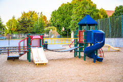 Childrens plastic playground Royalty Free Stock Images