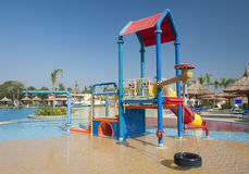 Childrens play area in a pool Stock Images