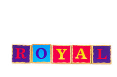 Childrens play blocks Royalty Free Stock Photo