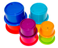 Childrens Play Cups Stock Photography