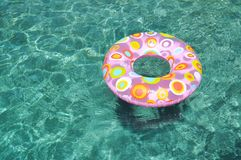 Childrens play inner tube. Pool toy for summer fun Stock Photo