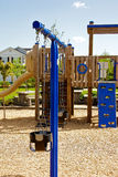 A childrens play structure. A wooden childrens play structure Royalty Free Stock Photo