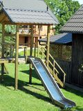 A childrens play structure. In summer Stock Photography
