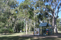 Childrens Playground. A children's playground in a park in Suburban Australia Royalty Free Stock Photos